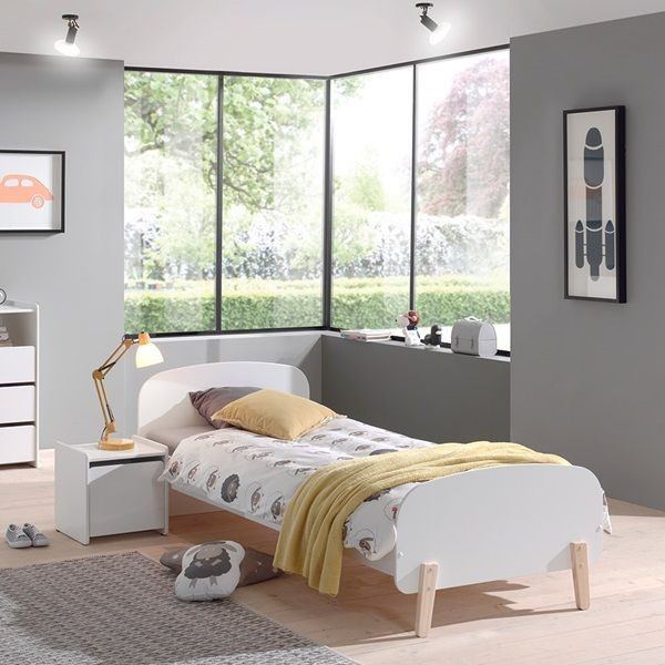 Kiddy Single Kids Bed in White | Childrens single beds, Kid beds .