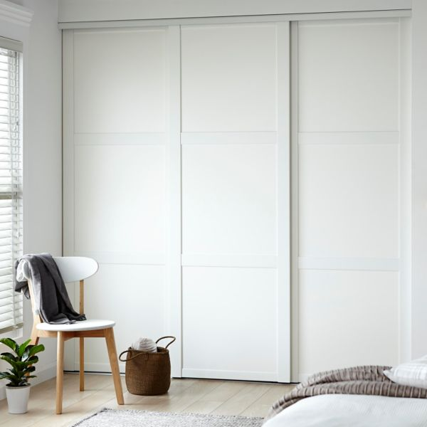 Wall closet with color white door for sliding wardrobe doors with .