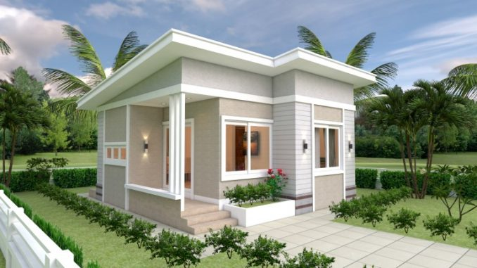 Cottage-inspired two-bedroom house design - House And Deco