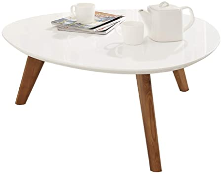 Amazon.com: White Minimalist Mini Coffee Table Living Room Paint .