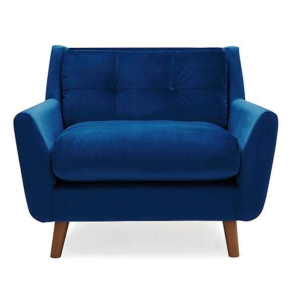 Halston Velvet Snuggle Chair | Snuggle chairs, Blue velvet chairs .