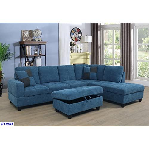 Blue Sectional Sofas: Amazon.c