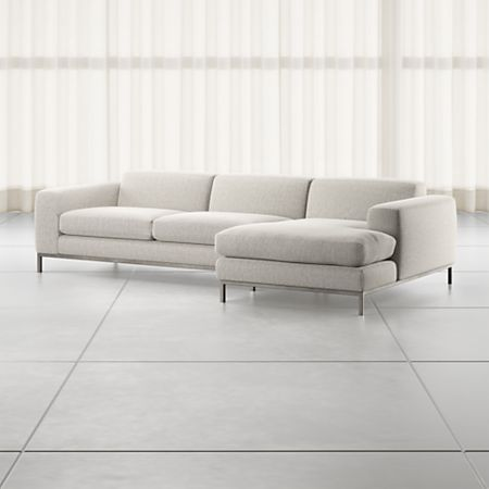 Nixie Grey 2-Piece Sectional Sofa | Crate and Barr