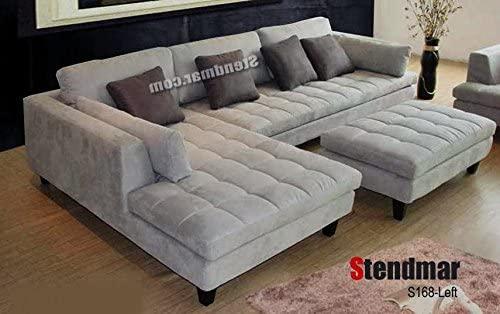 Amazon.com: Stendmar 3pc Contemporary Grey Microfiber Fabric .