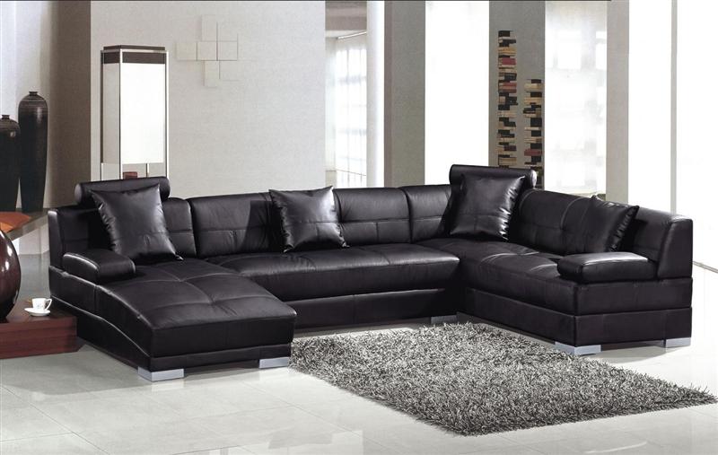 Modern Black Sectional Sofa Set TOS-LF-33