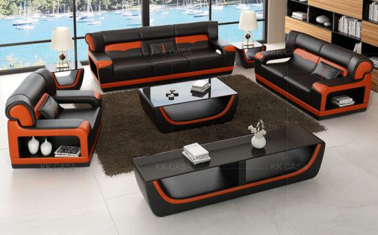China 1+2+3 Modern Leather Sofa Set Design Home Furniture Sofa .