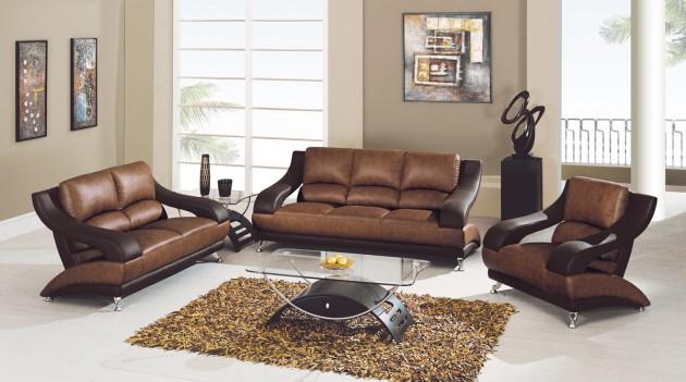 15 Classy Leather Sofa Set Desig