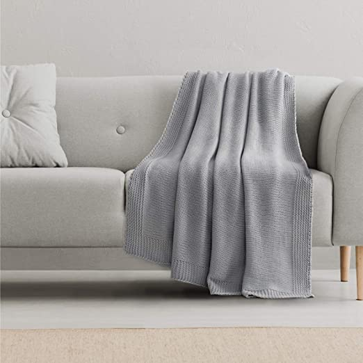Amazon.com: Bedsure Knitted Throw Blanket for Sofa and Couch .