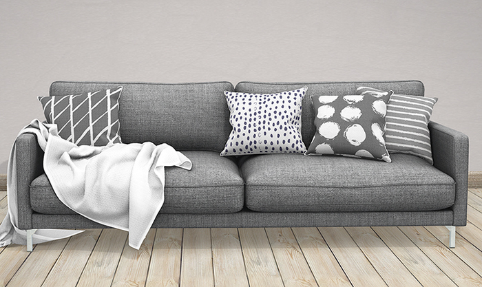 Second Life Marketplace - The Loft & Aria - Hexa Sofa With A Throw .