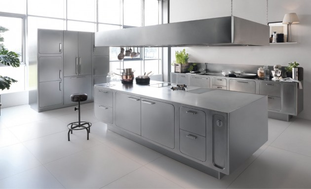18 Beautiful Stainless Steel Kitchen Design Ide
