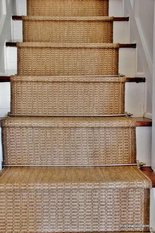 Inexpensive Option for a Stair Runner | Rustic stairs, Stair .