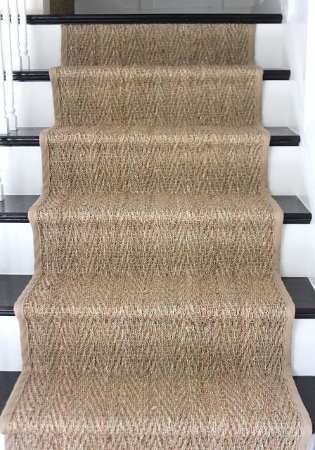 Installing a stair runner | Stair runner, White stairs, Wood stai