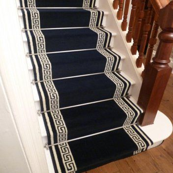 Key Blue Stair Runner in 2020 | Carpet stairs, Carpet runner .