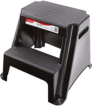 Amazon.com: Rubbermaid RM-P2 2-Step Molded Plastic Stool with Non .