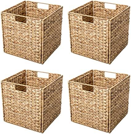 Amazon.com: Trademark Innovations Foldable Hyacinth Storage .