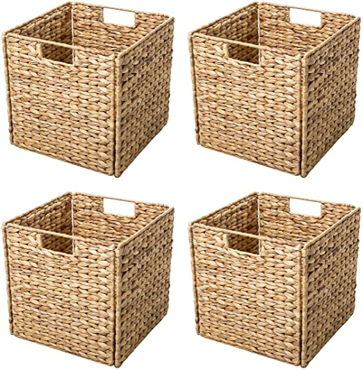 Amazon.com: Trademark Innovations Foldable Hyacinth Storage .