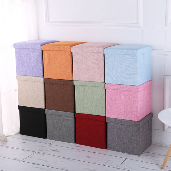 China Cheap Wholesale Fabric Storage Bins with Oxford Lids .
