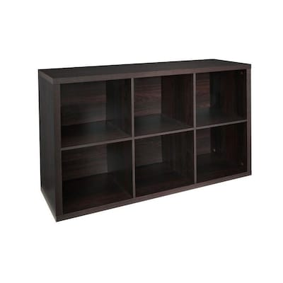 ClosetMaid 6 Compartment Black Walnut Laminate Storage Cubes at .