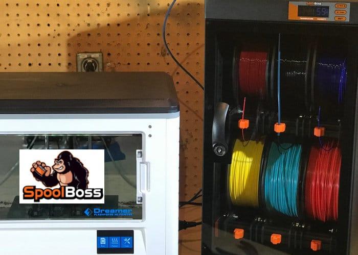 SpoolBoss 3D printer filament storage solution - Geeky Gadge