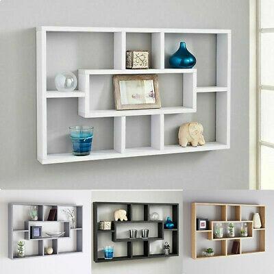 Stylish Space Saving Floating Wall Shelves Display Shelf Bookshelf .
