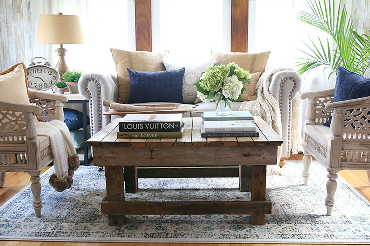 A Comfy Formal Sunroom Makeover -- The Home Depot Bl