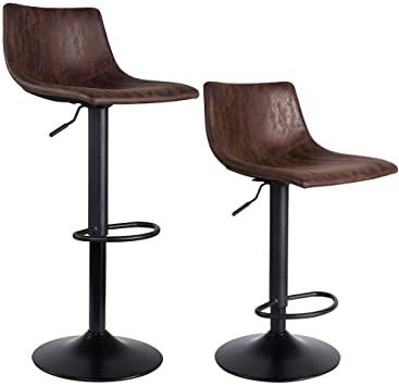 Amazon.com: SUPERJARE Set of 2 Bar Stools, Swivel Barstool Chairs .