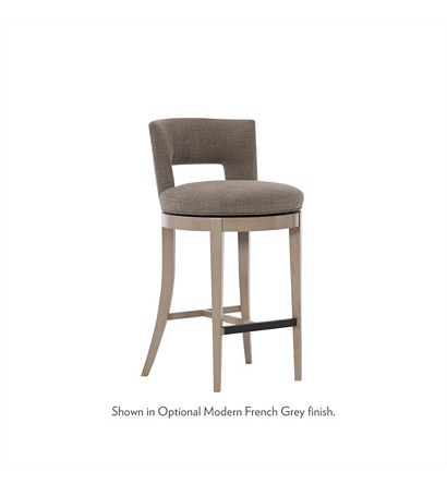 Axis Swivel Bar Stool from the Ray Booth™ collection by Hickory .