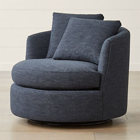 Tillie Swivel Chair + Reviews | Crate and Barr