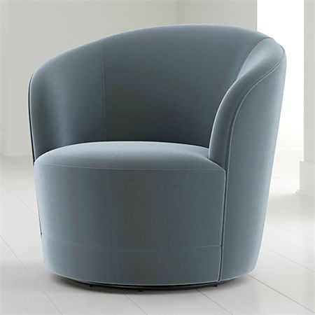 Infiniti Velvet Swivel Chair + Reviews | Crate and Barr