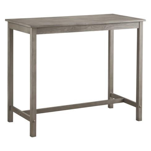Counter Height Pub Table Hardwood Gray Wash - Threshold™ : Targ