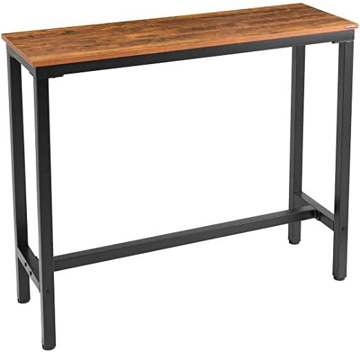 "Amazon.com: Mr IRONSTONE Bar Table, 47"" Rectangular Kitchen Pub ."