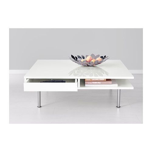 TOFTERYD Table basse Brillant blanc 95x95 cm - IKEA | Table basse .