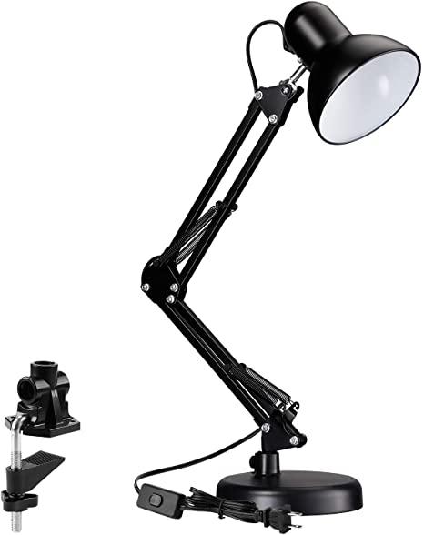 Amazon.com: TORCHSTAR Metal Swing Arm Desk Lamp, Interchangeable .
