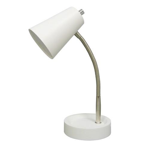 LED Task Table Lamp White (Includes Energy Efficient Light Bulb .