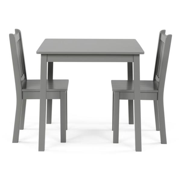 Tot Tutors 3-Piece Grey Kids Large Table and Chair Set CL329 - The .