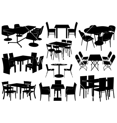 13 Cafe Tables And Chairs Vector Images - Vector Table and Chairs .