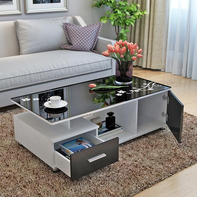 Coffee table minimalist modern small apartment home living room .