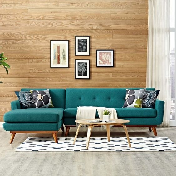 What color of coffee tables goes best with a dark teal sofa? - Quo