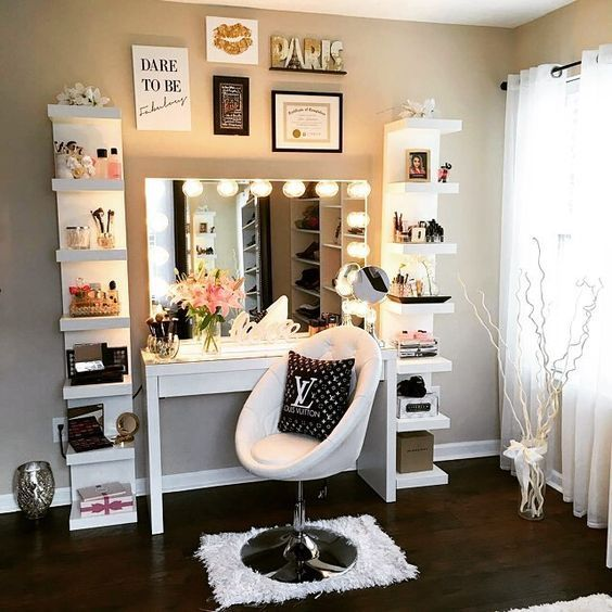 Impressions Vanity | Girl bedroom designs, Glam room, Diy vanity tab