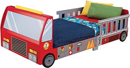 Amazon.com: KidKraft Fire Truck Toddler Bed: Toys & Gam