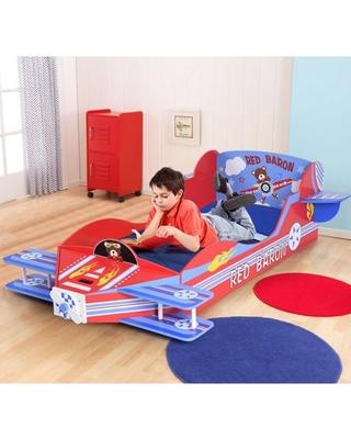 40% Off Gymax Kids Airplane Toddler Bed Children Bedroom Furniture .
