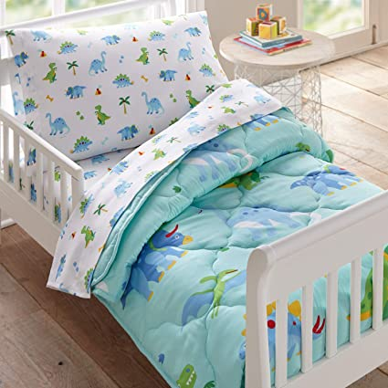Amazon.com: Wildkin Kids 4 Pc Toddler Bed In A Bag for Boys and .