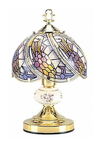 Amazon.com: OK Lighting OK-606-4G Touch Lamp with Tiffany Glass .