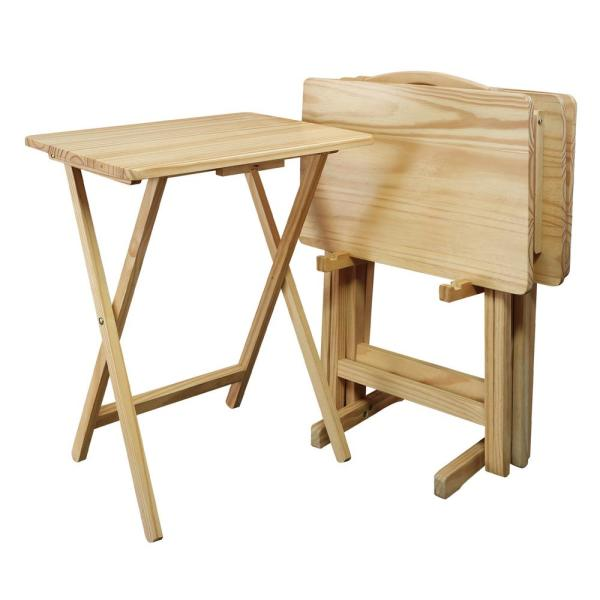 Casual Home 5-Piece Natural Foldable Tray Table 660-40 - The Home .