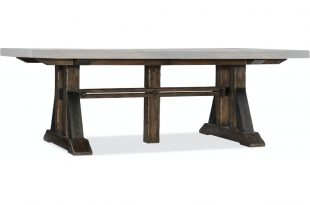 Hooker Furniture Dining Room Roslyn County Trestle Dining Table w .