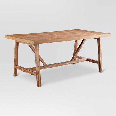 Wheaton Farmhouse Trestle Dining Table - Threshold™ : Targ