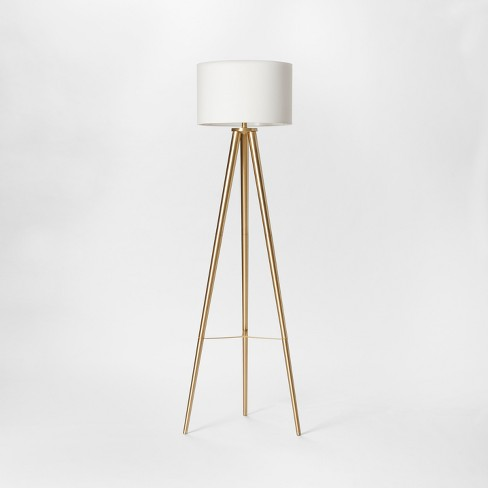 Delavan Metal Tripod Floor Lamp Brass Includes Energy Efficient .
