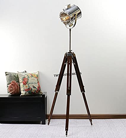 Industrial Style Vintage Movie SPOT Light Floor Standing Tripod .