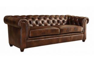 Keswick Tufted Leather Sofa Brown - Abbyson Living : Targ