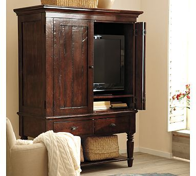 Mason Media Armoire | Tv cabinets with doors, Hidden tv cabinet .